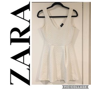 Zara fit and flare Jacquard Dress - Size Small
